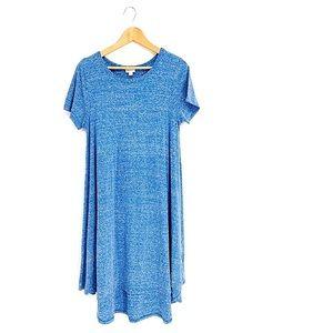 LULAROE jersey dress asymmetrical chambray maxi
